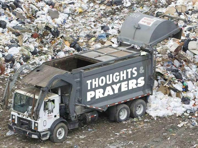 Thoughts and Prayers garbage dump truck