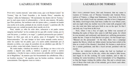 textos paralelos español inglés