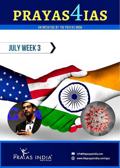 Prayas4 IAS Current Affairs (July 2020) : For All Competitive Exam PDF Book