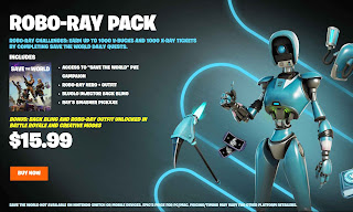 Robo-Ray pack for unlocking save the world pve mode