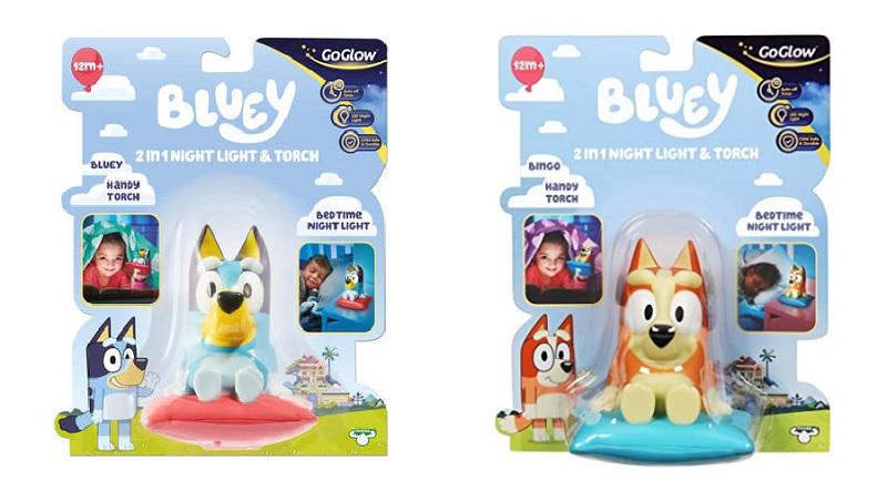 bluey and bingo night light and torch