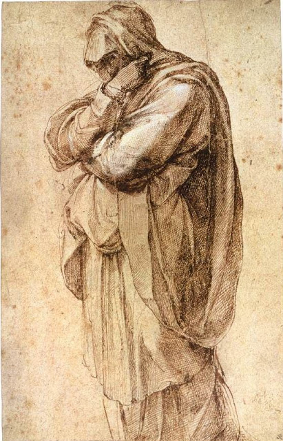 michelangelo-study-of-mourning-woman