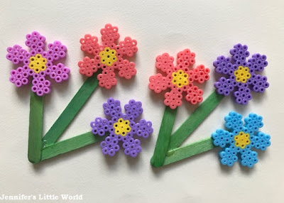 Hama bead flower craft