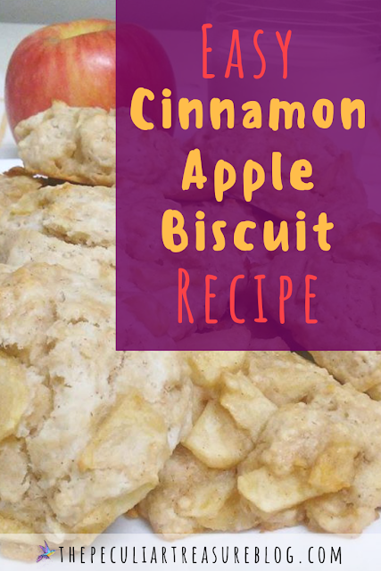 Easy Cinnamon Apple Biscuit Recipe (Egg-Free) | #Recipe #Breakfast #Fall #Apple #Food #Biscuits