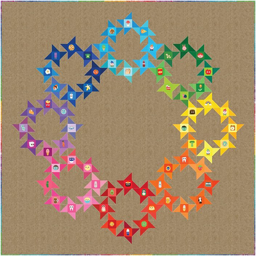Circle of Friends Quilt designed by Ariga Mahmoudlou of Robert Kaufman Fabrics