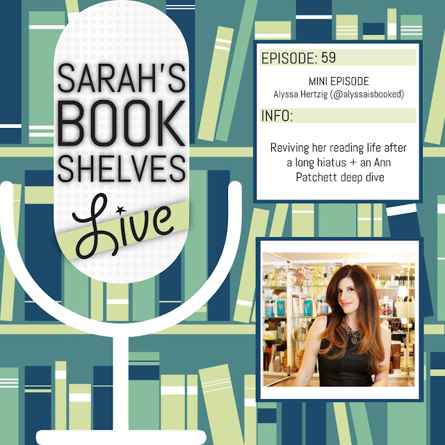alyssa hertzig on sarah's bookshelves live podcast