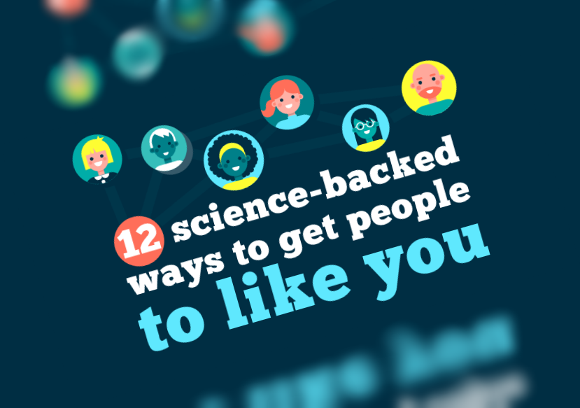 12 Ways to Get More People to like You (infographic