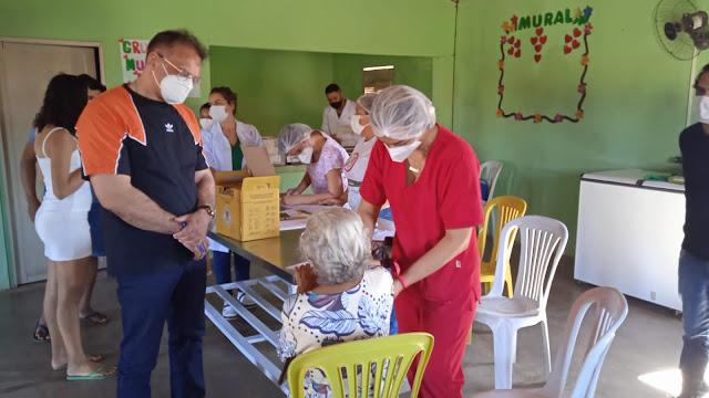 Profissionais da equipe Covid-19 de Caraúbas realiza entendimento de contenção à pandemia no Assentamento Ursulina
