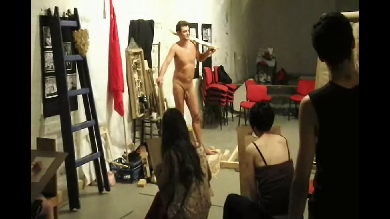 Amazingly! Nude male art class model interesting
