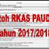 Contoh RKAS PAUD/TK Tahun 2017/2018