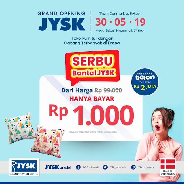 #JYSK - #Promo Serbu Bantal JYSK Hanya 1K (30 Mei 2019)