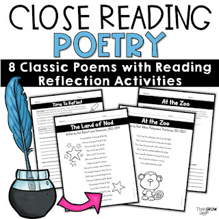 https://www.teacherspayteachers.com/Product/Reading-Comprehension-Passages-and-Questions-Poetry-Close-Reading-3697547