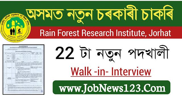 RFRI, Jorhat Recruitment 2021: