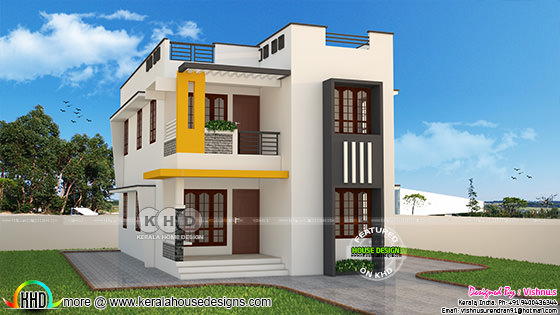 Cute modern Kerala home plan