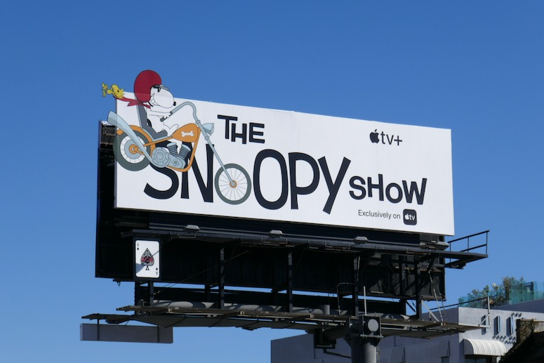 Snoopy Show series launch billboard