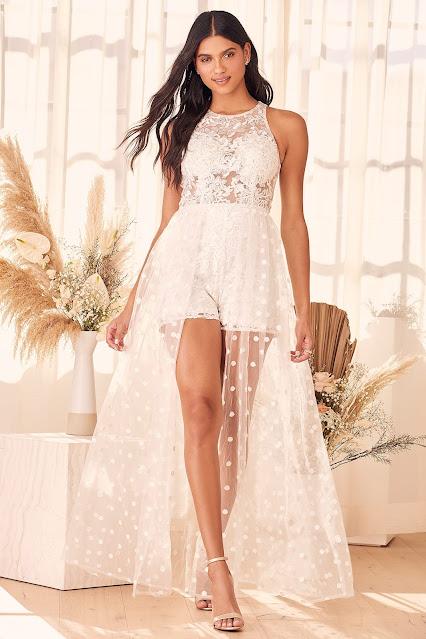 Haute-spot-white-embroidered-lace-maxi-romper-Lulus.com-KMichWeddings and Events-Philadelphia-PA