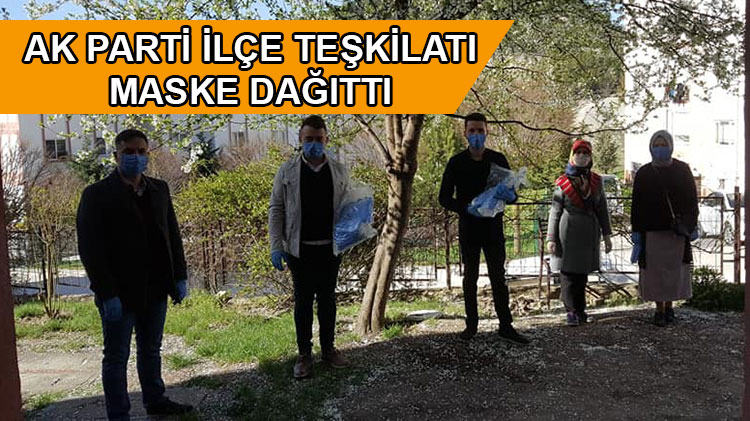 Ak Parti Mudurnu İlçe Teşkilatı Maske Dağıtıyor