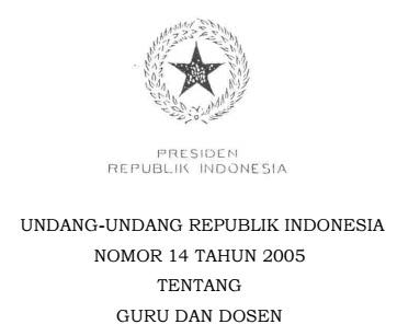 UU No.14 Tahun 2005 Tentang Guru dan Dosen.jpg