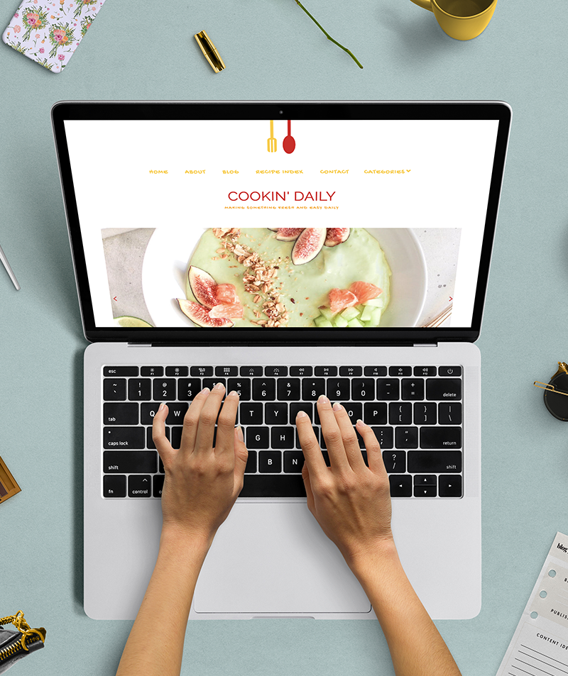 responsive blogger template cooking daily