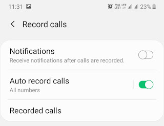 Enable auto call record