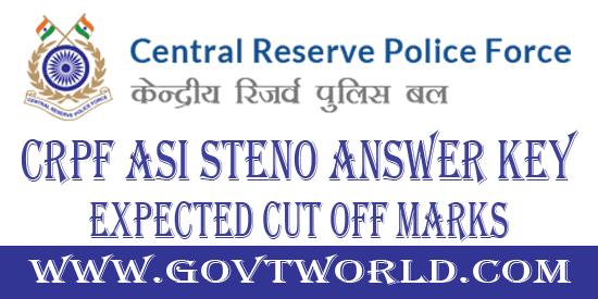 CRPF ASI Steno Answer Key