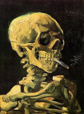 Resultado de imagem para caveira com cigarro aceso