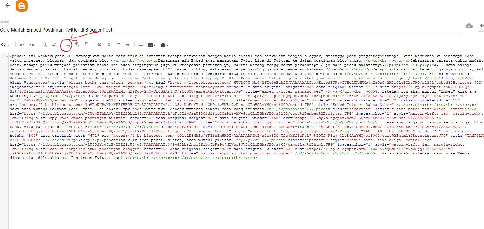 Format kode html