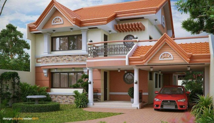 40 most beautiful and modern 2 storeys house designs for Beautiful two story homes