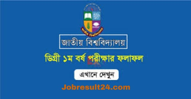 Degree 1st year Result 2020 published by national University