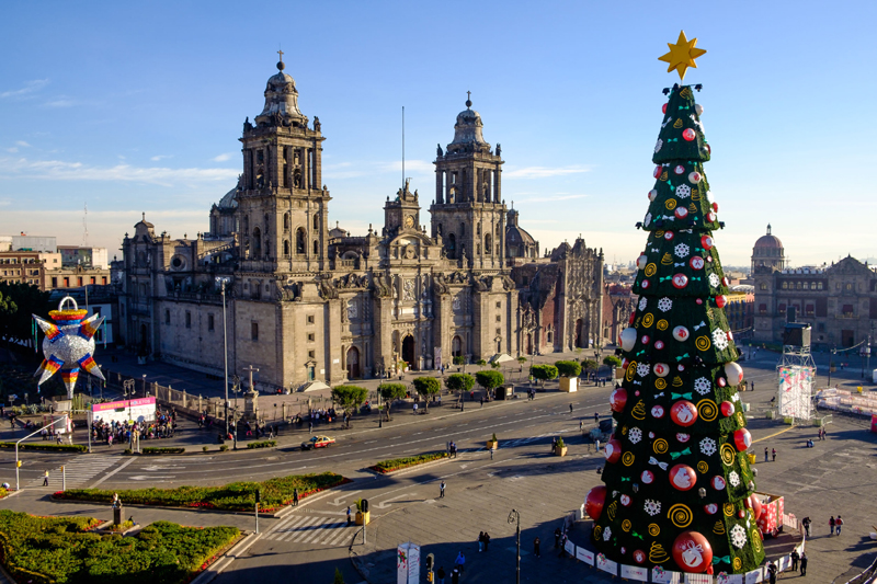 Zócalo Christmas tree — Mexico City, Mexico