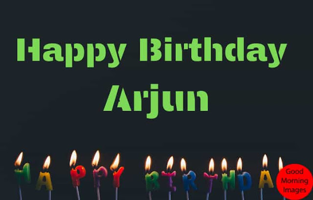 birthday images with name Arjun