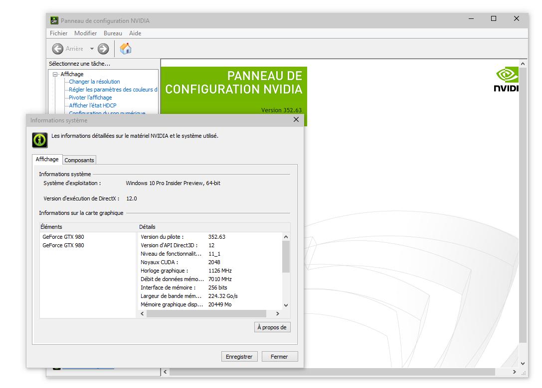 carte graphique nvidia windows 10