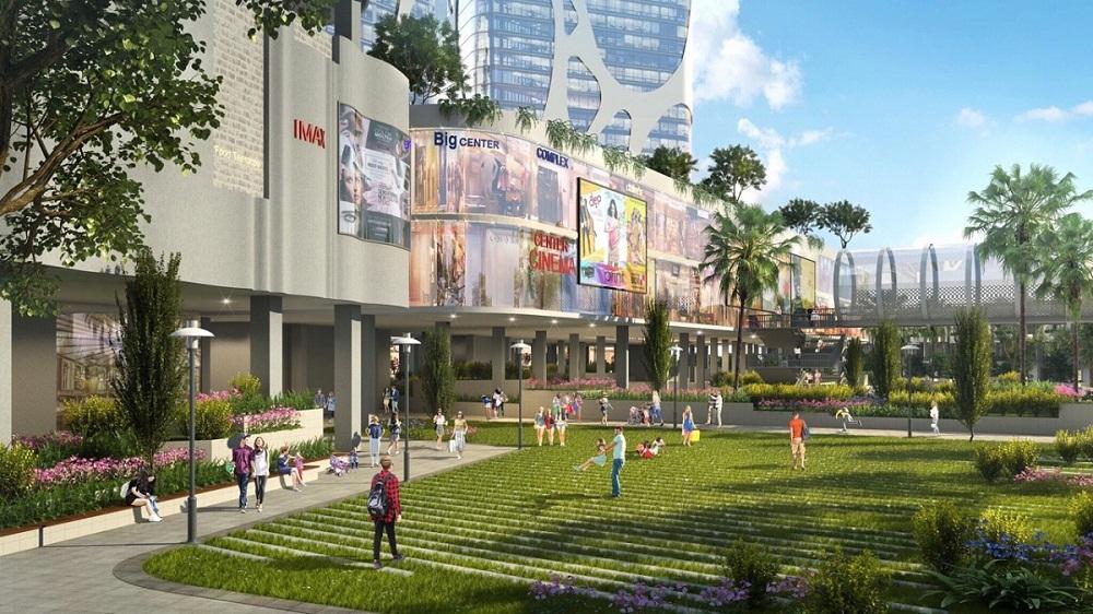 Quần thể xanh trong khu trung tâm thương mại Lotte Him Lam Green Park