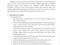 Pelaksanaan Seleksi CPNS Kementerian Agama Republik Indonesia Tahun Anggaran 2019