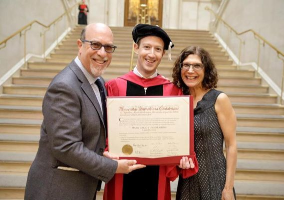 Photos:12 years after dropping out, Mark Zuckerberg receives an honorary degree from Harvard University