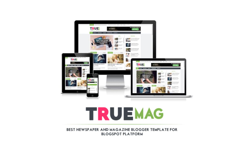 TrueMag Premium Version Blogger