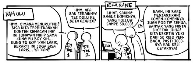 menerbitkan komik sendiri atau lewat penerbit