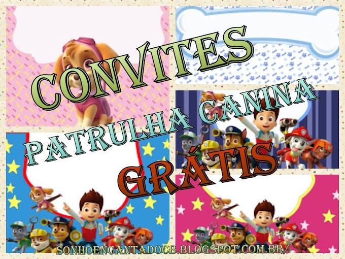 + 23 Convites Patrulha Canina GRÁTIS para editar e imprimir