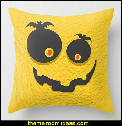 Scary Halloween Throw Pillow