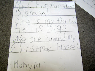 photo of: Christmas Writing from Herding Kats in Kindergarten at PreK+K Sharing