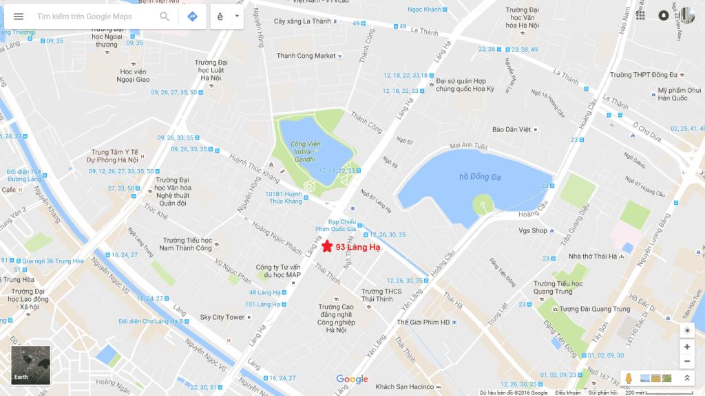 Vị trí đắc địa dự án chung cư 93 Láng Hạ