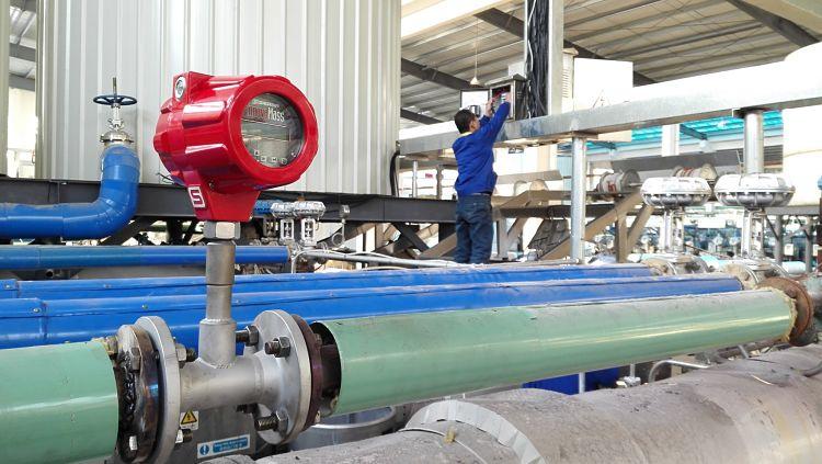 Medidor de caudal de vortex en tubería