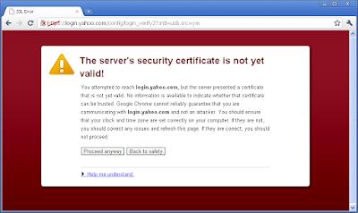 certificate not valid