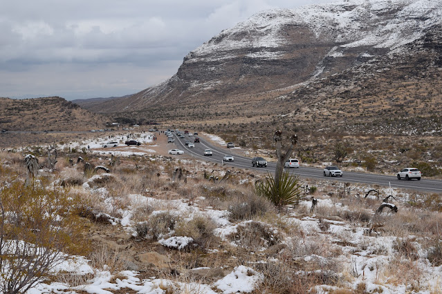 Highway 159 Red Rock Canyon Snow