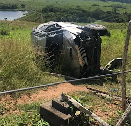 Capotamento com vítima fatal é registrado entre Guarabira e Araçagi, na PB-057