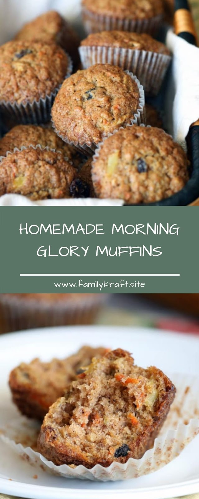 HOMEMADE MORNING GLORY MUFFINS