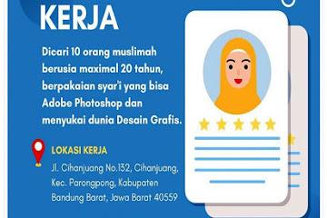 Lowongan Kerja Bandung Desain Grafis Muslimah