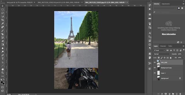 cara edit photoshop seperti berada di luar negeri