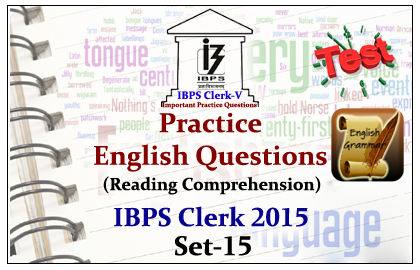 Race IBPS Clerk 2015- Practice English Questions (Reading