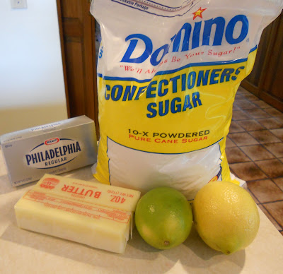 Lemon-Lime Frosting Ingredients